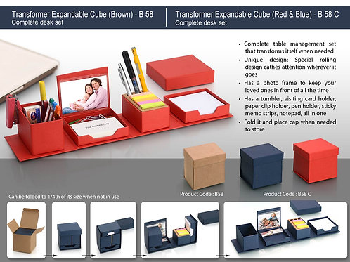 Transformer expandable cube: complete desk set B-58