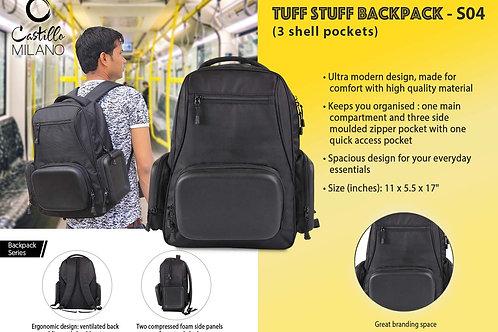 Tuff stuff Backpack (3 shell pockets) by Castillo Milano S-04