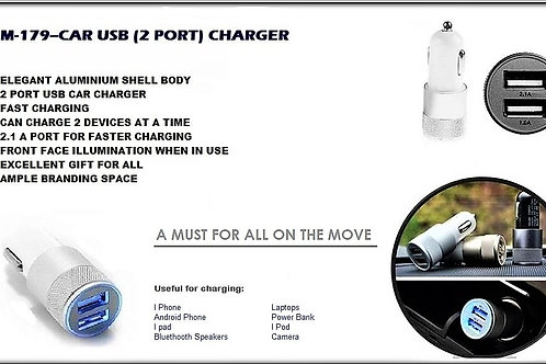 CAR USB CHARGER GM-179