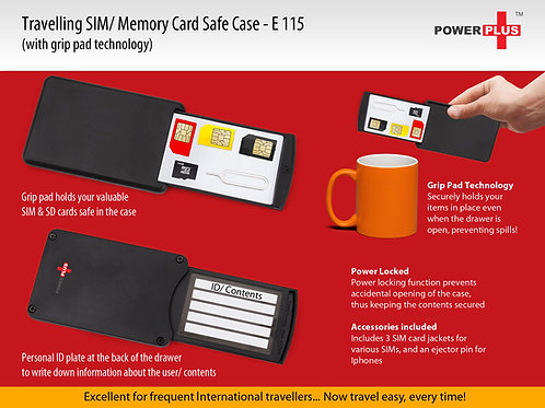 Travelling SD/Sim card safe case E-115