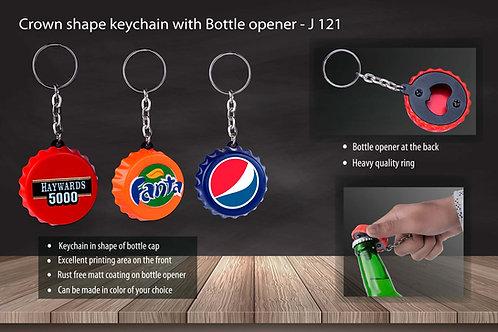 Crown shape keychain with Bottle opener J-121