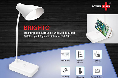 Brighto Rechargeable LED lamp with mobile stand | 3 Color light E-246