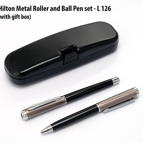Hilton Metal Roller and Ball Pen set (with Gift box) L-126