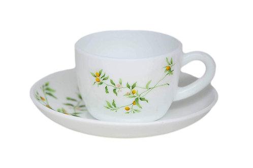 LaOpala Glass Princess Vivid Greens Tea and Coffee Cup CI-LO-12