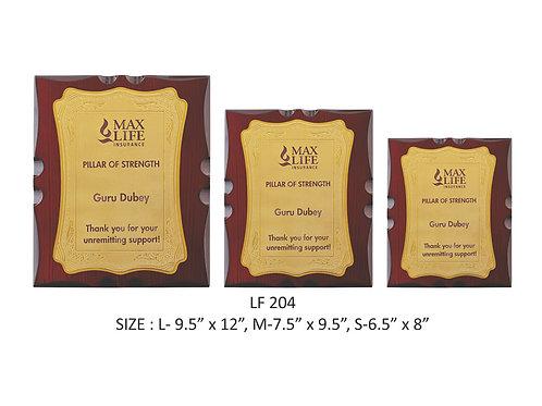 Wooden Trophy WD-LF204