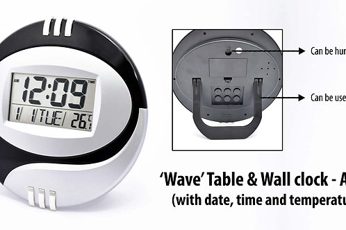 Wave table cum wall clock A-107