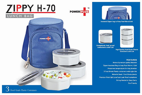 Zippy Lunch bag- 3 containers (plastic) H-70