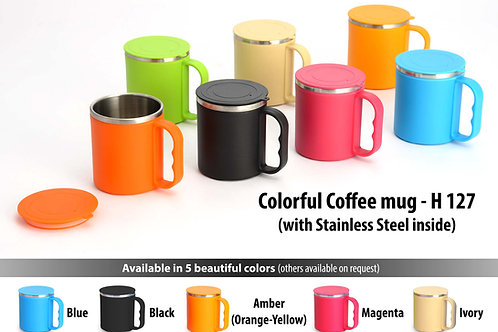 Colorful SS coffee mug (with box) H-127
