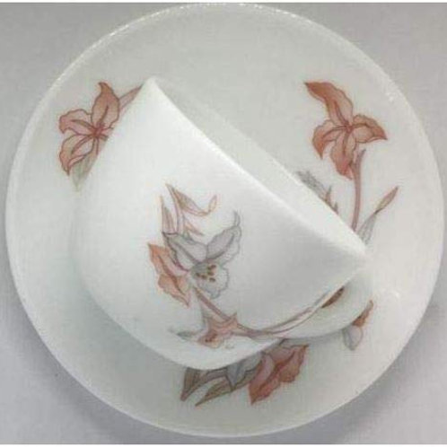 LaOpala Opalware Cup And Saucer - 12 Pieces, White CI-LO-36