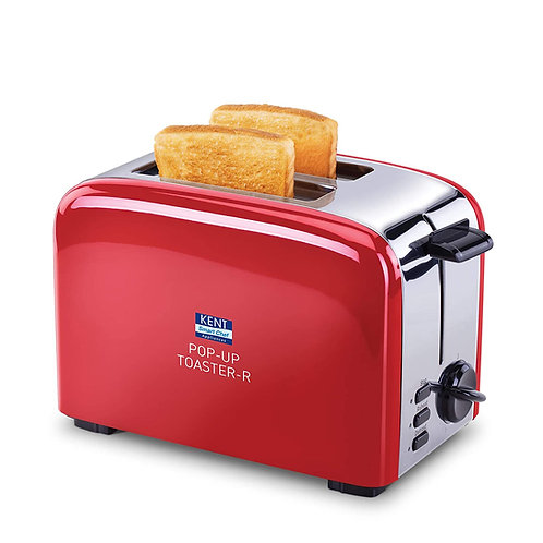 KENT 16030 850W Pop-Up Toaster, Red CI-K-29