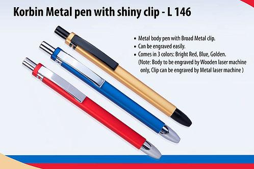Korbin Metal pen with shiny clip L-146