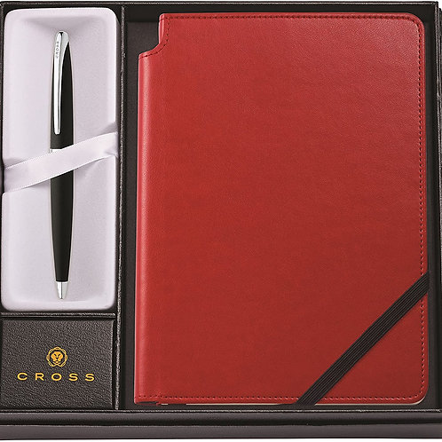 Cross ATX Ballpoint Pen with Medium Crimson Journal CI-CR-37