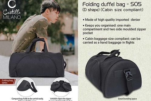 Folding duffel bag (D shape) (cabin size compliant) by Castillo Milano S-05