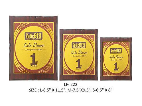 Wooden Trophy WD-LF222