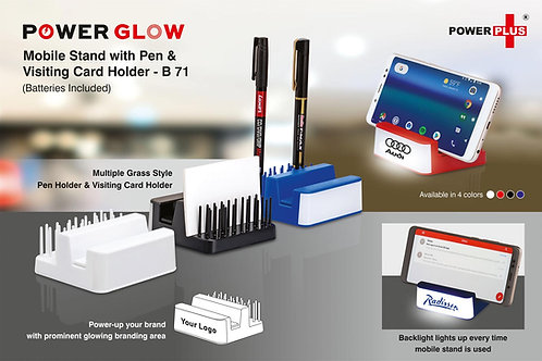 Powerglow Mobile stand with Pen and visiting card holder B-71