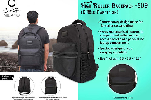 High Roller backpack | Single partition by Castillo Milano S-09