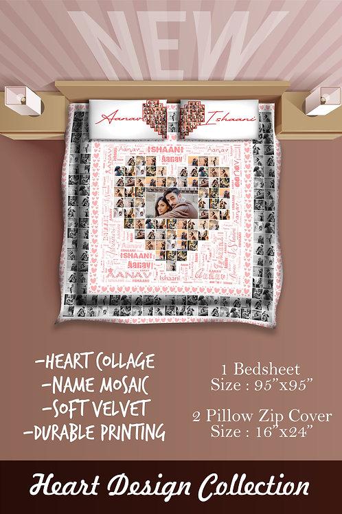 Personalised  Velvet bed sheet CI- 24