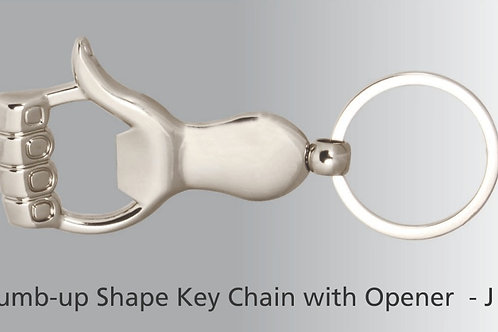 Thumb up key ring with opener J-36