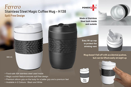 Ferrero Stainless Steel Magic Coffee Mug (300 ml approx) H-138