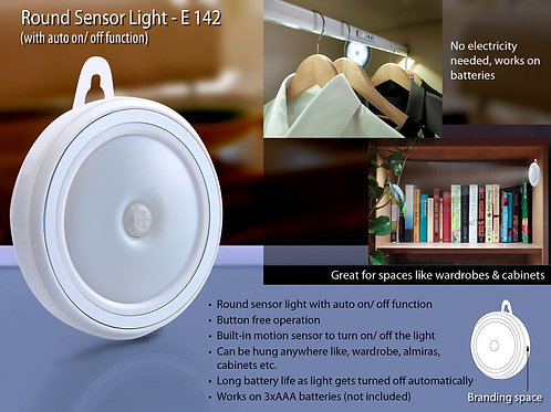 Round Sensor light (auto on/off) E-142