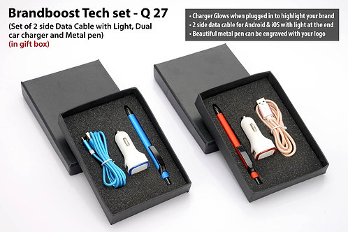 Brandboost Tech set: Set of 2 side Data Cable with Light (C49), Q-27