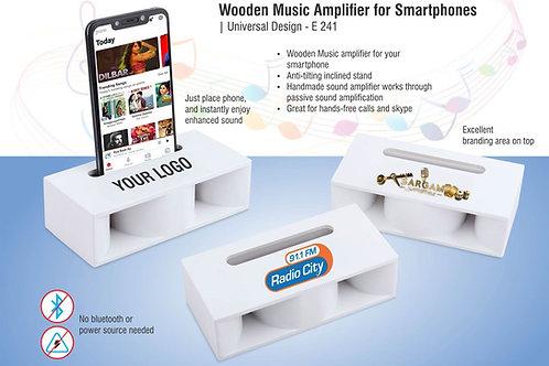 Wooden Music Amplifier for Smartphones | Universal Design E-241