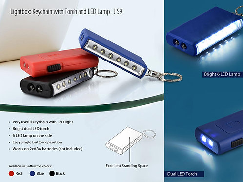 Keychain with torch and 6 LED lamp J-59