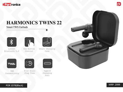 HARMONICS TWINS 22 Smart TWS Earbuds POR-1078