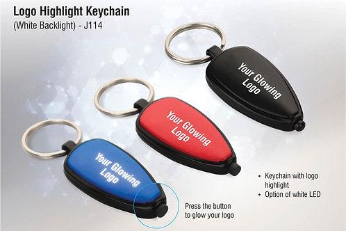 Logo highlight keychain (white backlight) J-114