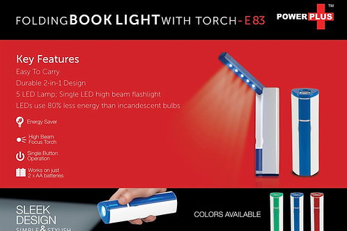 Power Plus Folding book light with torch E-83