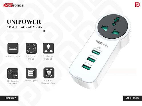 UNIPOWER 3 Port USB AC – AC Adapter POR-077