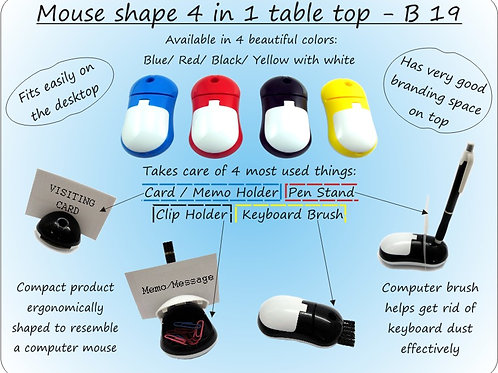 Mouse shape 4 in 1 table top B-19