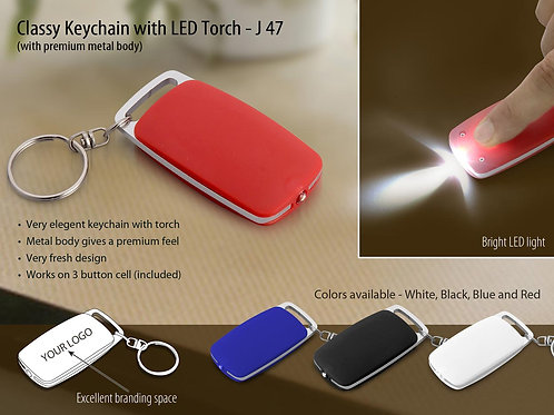 Classy Keychain with LED Torch J-47