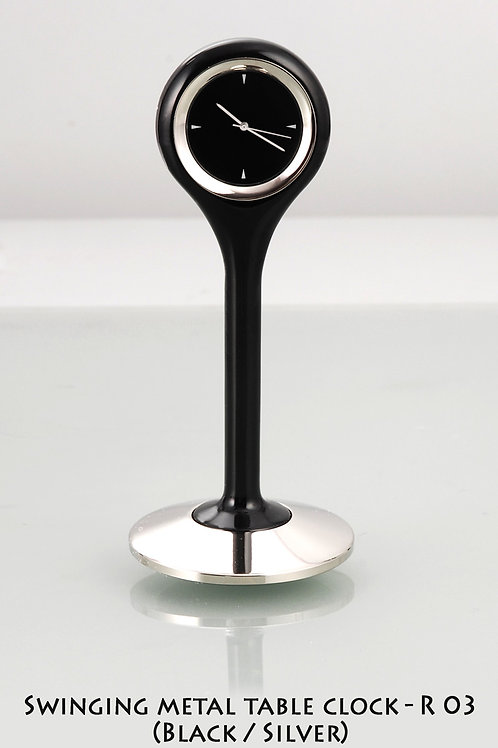 Swinging Metal table clock R-03