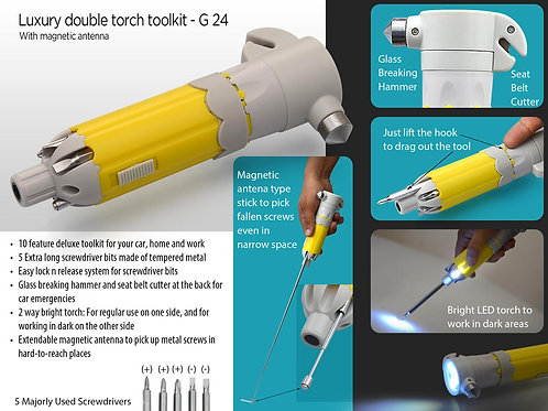 Luxury double torch toolkit with magnetic antenna G-24