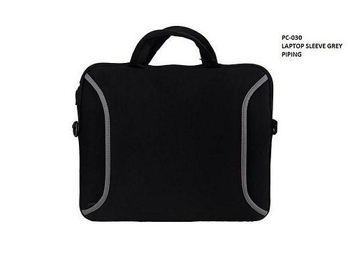 Laptop Sleeve Grey Piping Bags CI-PC - 030