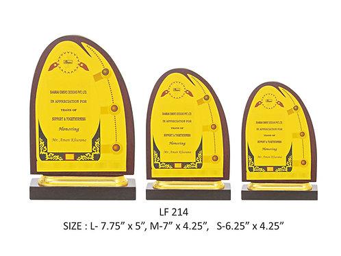 Wooden Trophy WD-LF214