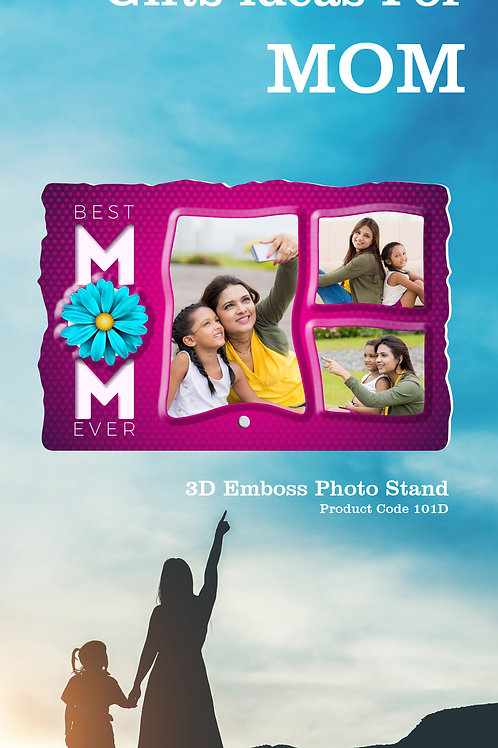 Personalised 3D Emboss Photo Stand CI- 119