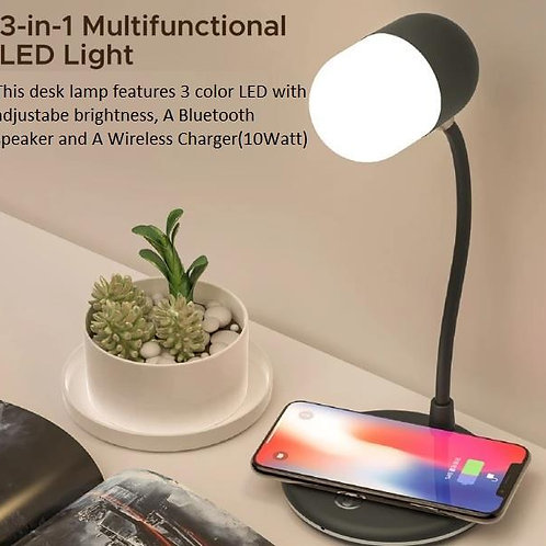 3 in 1 Dessk Top Lamp With Bluetooth Speaker and Wireless Charger DC-3