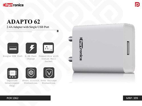 ADAPTO 62 2.4A Adapter with Single USB Port POR-1062