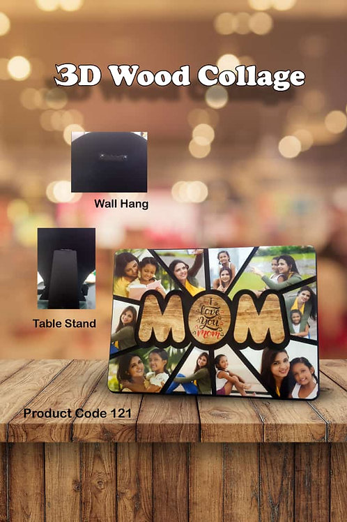 Personalized 3D Wood Collage Photo Frame CI- 102