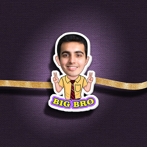 Personalised Cartoon Rakhi With Magnet CI- 53
