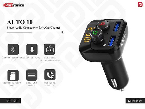 AUTO 10 Smart Audio Connector + 3.4A Car Charger POR-320
