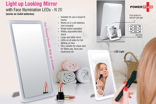 Light up Looking mirror with Face illumination LEDs N-20