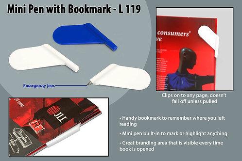Mini Pen with Bookmark L-119
