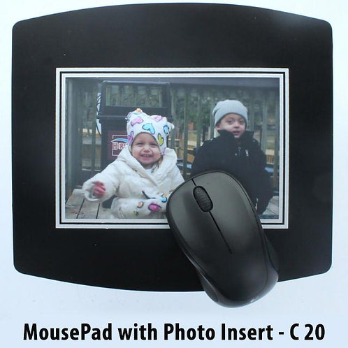 Mouse pad with paper insert E-20