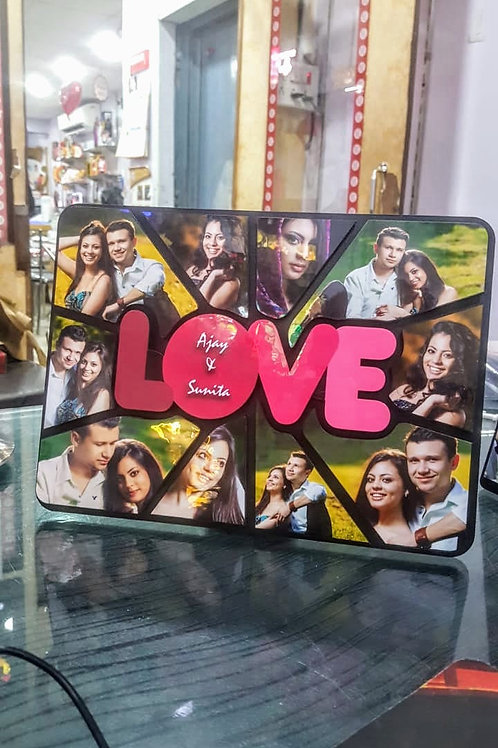 Personalized 3D Wood Collage Photo Frame CI- 98