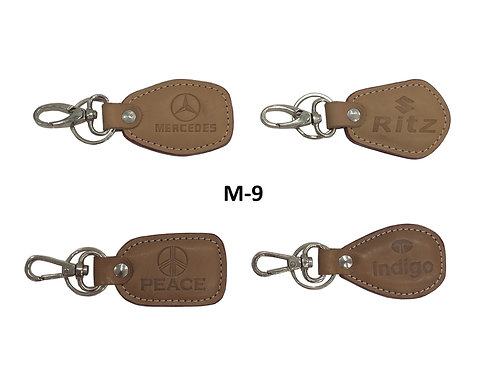Leather Key Ring GROUP OF 4 @18 M-09