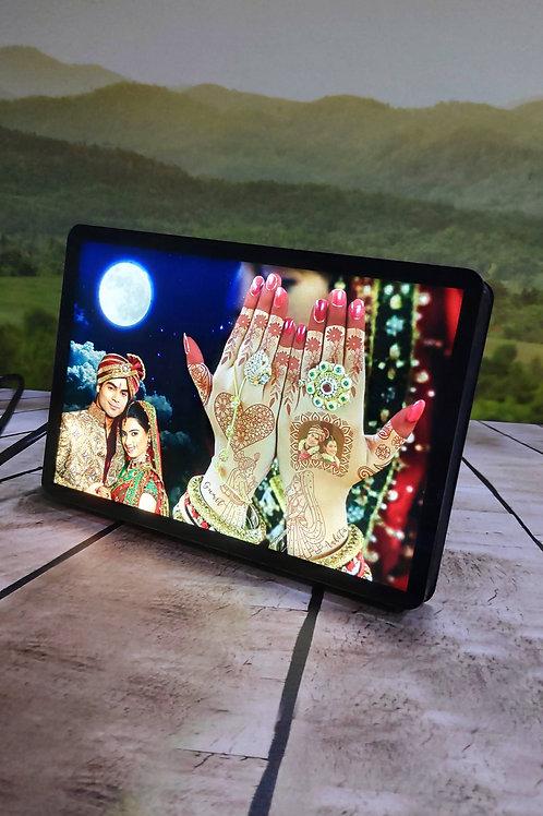 Personalized  Magic LED Mehndi Light photo Frame CI-08