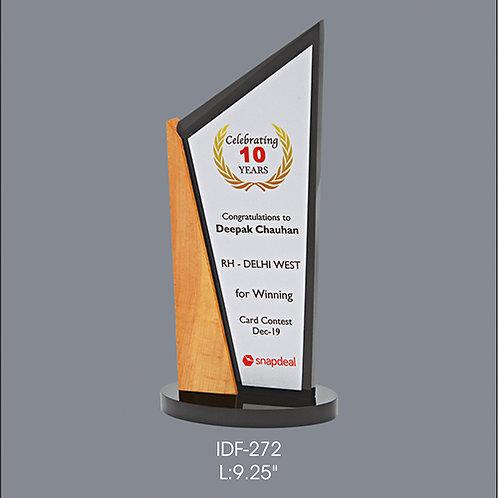 Acrylic Trophy  IDF-272